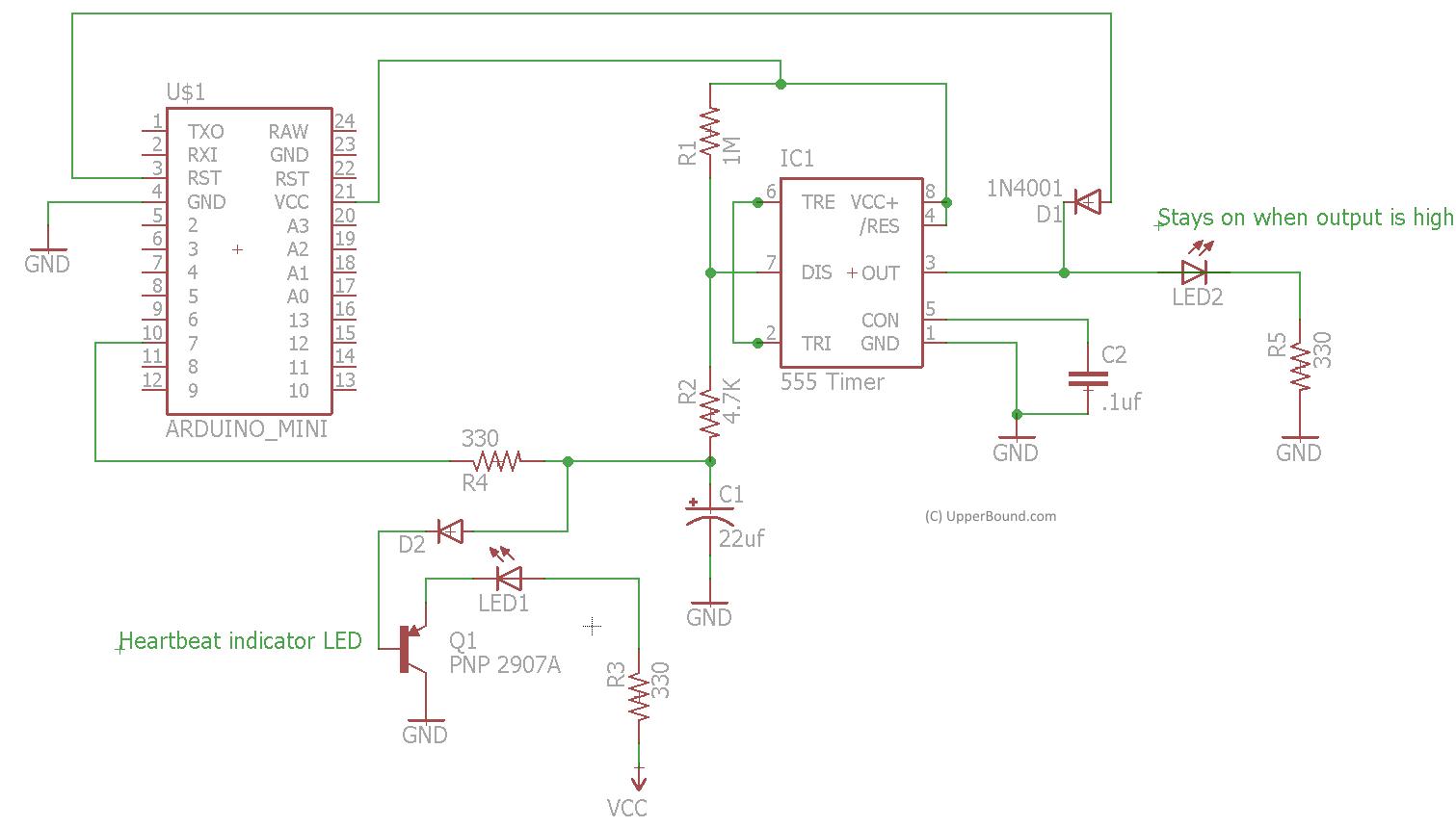 555 Watchdog Timer Astable Circuit Diagram Schematic